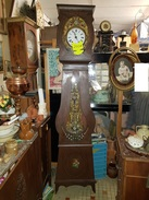 Pendule Horloge Comtoise Caisse Peinte Balancier Polychrome Fleurie  / FONCTIONNE - Clocks