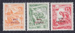 Italy Yugoslavia Trieste Zone B 1954 Definitive - Economy, MNH (**) Michel 110-112 - Trieste