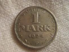 1 Reichmark 1924 F - 1 Mark & 1 Reichsmark