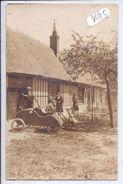 CARTE-PHOTO-VOITURE A PEDALE- COUR DE FERME- CLOCHER - Cartes Postales