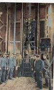 LUWERING MINERS AND MINE , BUTTE, ( THEME MINE) - Butte
