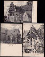 3 X SINT MARTENS LENNIK -  Werken Aan KERK In 1906/1907 - Prachtkaarten én Zeldzaam - KOOPJE !!! - Lennik