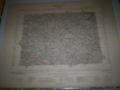 CARTE GEOGRAPHIQUE  G - Format  45 X 57 De DEUX SEVRES_MAINE Et LOIR_VENDEE_ Feuille  LES  HERBIERS_X  21 ) En1890 - Geographische Kaarten