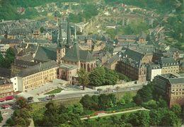 Luxembourg, Vue Aerienne De La Ville Et De La Cathedrale, Aerial View, Veduta Aerea, Luftansicht - Lussemburgo - Città