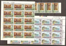 1970 Jersey  DEFINITIVA DECIMALE Definitives Decimal 40 Stamps (36 +42) MNH** In Blocchi Blocks - Jersey