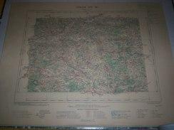 CARTE GEOGRAPHIQUE  G - Format  45 X 57 De INDRE ET LOIR_LOIR ET CHER_SARTHE_Feuille  CHATEAU DU LOIR_XIII  18 ) En1903 - Geographische Kaarten