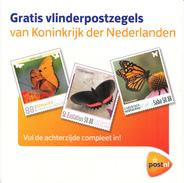 Nederland - Persoonlijke Postzegels - Onderzetters - Vlinders/Schmetterlinge/butterflies - Bloemen/Blumen/flowers - Stamps