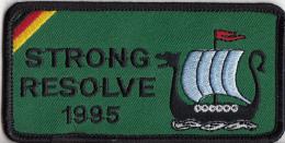 Embleem - Textiel - Geborduurd - Strong Resolve 1995 - Marine - Blazoenen (textiel)