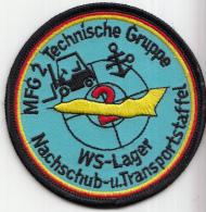 Embleem - Textiel - Geborduurd - MFG2 Technische Gruppe - WS Lager - Nachschub - U.Transportstaffel - Luchtmacht - Blazoenen (textiel)