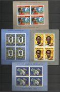 1961 Ghana 4 FOGLIETTI (3/6) MNH** 4 Souv. Sheets - Ghana (1957-...)