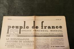 """92 - Rédaction à Vanves *** Organe Paroissial Mensuel *** """"Peuple De France""""   / J 77 - Other"""