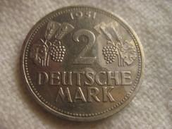 Germany 2 Deutsche Mark 1951F - [ 7] 1949-… : RFA - Rép. Féd. D'Allemagne