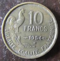 France - 10 Francs Guiraud 1954 B - TTB - K. 10 Francs