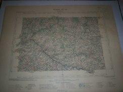 CARTE GEOGRAPHIQUE  G - Format  45 X 57 De CREUSE_HAUTE VIENNE_Feuille  BOURGANEUF_XV  25 ) En1901 - Geographical Maps