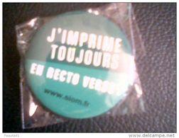 """Aimant Métal """"J'imprime Toujours En Recto Verso"""",neuf Et Emballé - Magnets"""
