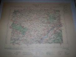 CARTE GEOGRAPHIQUE  G - Format  45 X 57 De EURE Et LOIR_LOIR Et CHER_LOIRET_Feuille  BEAUGENCY_XV  17 ) En1905 - Carte Geographique