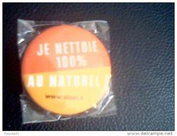 """Aimant Métal """"Je Nettoie 100 % Au Naturel"""",neuf Et Emballé - Magnets"""