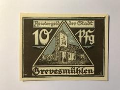 Allemagne Notgeld Grevesmuhlen 10 Pfennig - [ 3] 1918-1933 : République De Weimar