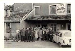 Themes Div -ref  V258- Photo Souple 13cms X 9 Cms - A Identifier - Cafe A La Belle Vue Restaurant - Photo Bon Etat - - Lieux
