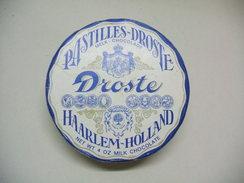 Boîte De Pastilles DROSTE Harlem-Holland Vide En Carton 113g Chocolat Au Lait - Dosen