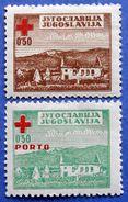 YUGOSLAVIA CHARITY MNH SERIES RED CROSS 1947 Mic. 5 And 2 - Beneficiencia (Sellos De)
