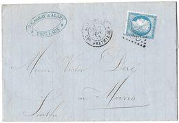 LETTRE Avec N° 60A  ; 144 G1 ;  TTB - 1871-1875 Cérès