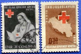 YUGOSLAVIA CHARITY USED SERIES RED CROSS 1950 Mic. 8 And 5 - Wohlfahrtsmarken