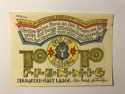 Allemagne Notgeld Laage 10 Pfennig - [ 3] 1918-1933 : Weimar Republic