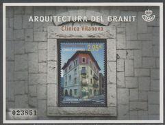 SPANISH ANDORRA , 2016, MNH, ANDORRAN ARCHITECTURE, VILANOVA CLINIC, S/SHEET - Architecture