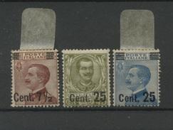 Italia 1923  1924   3 Valeurs Avec Surcharges - 1900-44 Victor Emmanuel III.