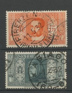 Italia 1932   2 Bons Oblitérés De La Série Dante  Cote 18,50 E   Petrarque,   Tasso - 1900-44 Victor Emmanuel III.