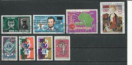 DAHOMEY Scott 234, 237-8, C55-C56, C60, C61 Yvert 252, 264, 257-258, PA59-PA60, PA63, PA65 (8) O Cote 8,70$ 1967 - Bénin – Dahomey (1960-...)