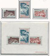 DAHOMEY Scott 235-236, C52, C52a Yvert  255-256, PA61, BF7 (3+bloc) ** Cote 8,50$ 1967 - Bénin – Dahomey (1960-...)