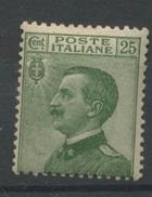 Italia ROI  25c Vert  180.A **   Cote 19,- E   Très Frais - 1900-44 Victor Emmanuel III.