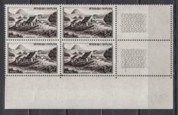 FRANCE 1949 - BLOC DE 4 TP  Y.T. N° 843 - COIN DE FEUILLE NEUFS** /Y176 - France
