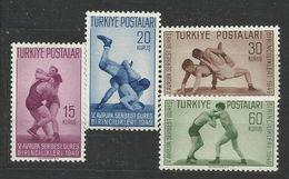 1949 Turchia Turkey SPORT Serie Di 4v. (1231/34) MNH** - Lotta