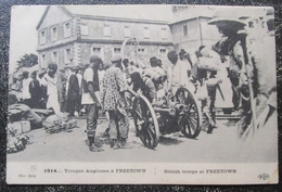 Sierra Leone Freetown British Troops Troupes Anglaises Cpa Sierra Leone Ww1 - Sierra Leone