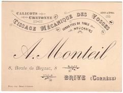BRIVE- Carton Pub  Manufacture  A.MONTEIL - Brive La Gaillarde