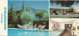 Carte Postale Publicitaire Hill House (Hôtel) - Bakersfield - Californie - Etats-Unis - Hotel Labels