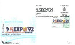FDC 2017 ESPAÑA - 1992 – Sevilla (España)