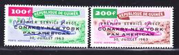 GUINEE AERIENS N°   36 & 37 ** MNH Neufs Sans Charnière, TB  (D1474) - Guinée (1958-...)