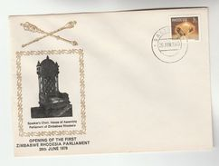 1979 RHODESIA  ZIMBABWE PARLIAMENT EVENT COVER Stamps - Rhodesia (1964-1980)