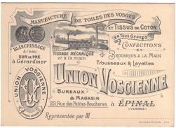EPINAL - Carton Pub  Manufacture UNION VOSGIENNE - Epinal