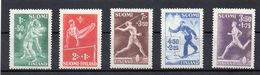 Finnland, 1945, Sport, Michel 286/90, Postfrisch/**/MNH - Finlande