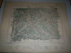 CARTE GEOGRAPHIQUE  G - Format  45 X 57 De TERRITOIRE De BELFORT_DOUBS_ALSACE_SUISSE_Feuille  BElFORT_XXVI  18 ) En1884 - Geographische Kaarten