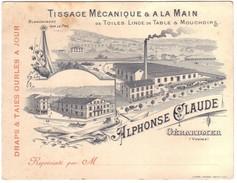 GERARDMER  - Carton Pub  Manufacture  ALPHONSE CLAUDE - Gerardmer