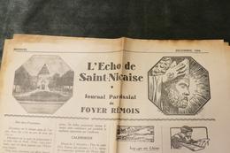"""29 - Saint-Nic - Journal Paroissial Du Foyer Rémois ** """"L'Echo De Saint-Nicaise *** / J 81 - Newspapers"""