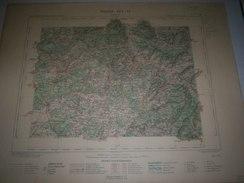 CARTE GEOGRAPHIQUE  G - Format  45 X 57 De TERRITOIRE De BELFORT_VOSGES_Feuille  LUXEUIL_XXV  17 ) En1886 - Geographische Kaarten