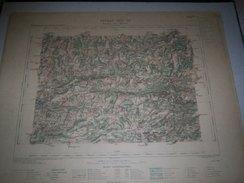 CARTE GEOGRAPHIQUE  G - Format  45 X 57 De DOUBS_HAUTE SAONE_Feuille  BAUMES LES DAMES_XXV  19 ) En1884 - Geographische Kaarten