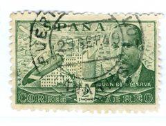 SPAGNA, SPAIN, ESPANA, ESPAGNE, POSTA AEREA, AIRMAIL, COMMEMORATIVO, JUAN DE LA CIERVA, 1941, USATI  Scott C114 - Usati